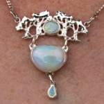 Sterling Silver and Three Solid Opals