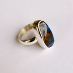 Sterling Silver and Boulder Opal Ring