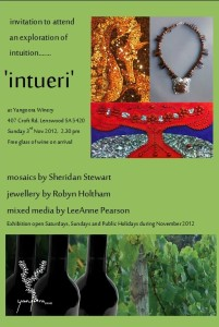 "Poster for ""Intueri"" Exhibition"