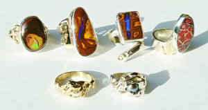 Robyn Holtham Rings from Left RH03, RH04, RH05, RH06 & Front, RH01, RH02