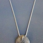 Dickinsonia - Sterling Silver Pendant on Sterling Silver Snake Chain