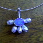 'Gumnuts' - Necklet in Sterling Silver and Solid Opal