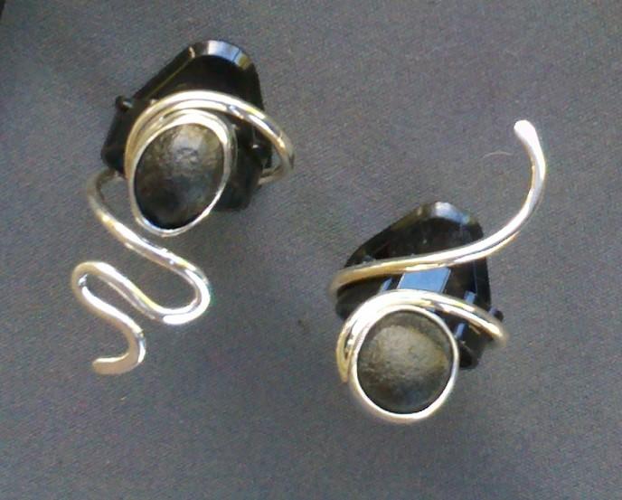 'Tektites' - Set in Sterling Silver