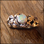 9 Carat Gold and Solid Opal Ring