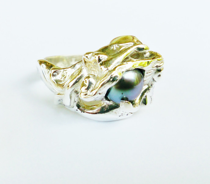 925 Silver, Dark Freshwater Pearl